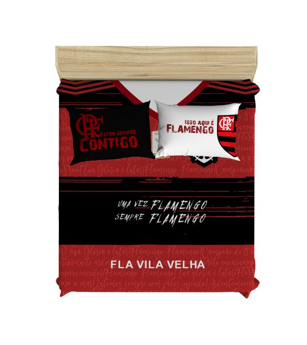 Colcha de Casal Fla Vila Velha + 2Fronhas