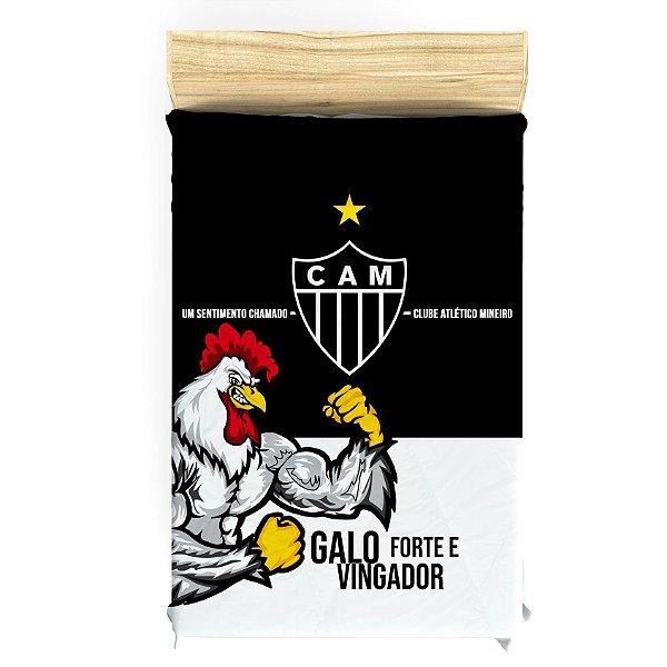 Lençol do Atlético Mineiro para Cama de Solteiro - Frete Grátis