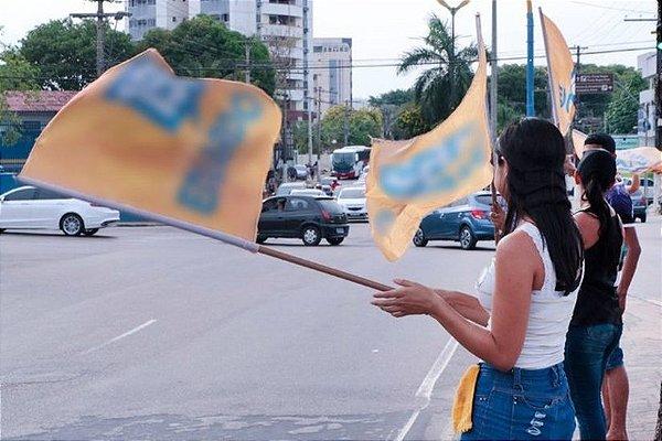 Kit Com 50 Bandeiras Para Campanha 1,40m X 1m - 4 dias
