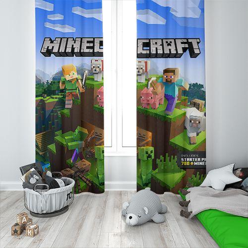 Cortina Blecaute Minecraft - 1,80m Largura x 1,80m Comprimento