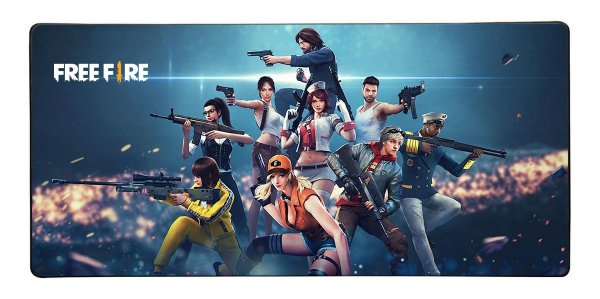 Mouse Pad Gamer Free Fire - 90cm x 40xm - Modelo 1