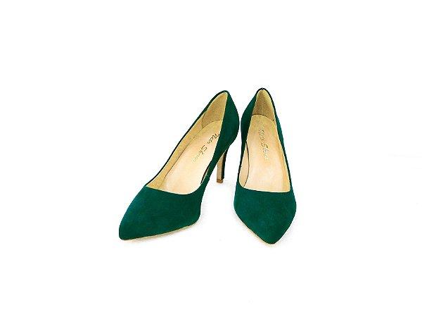 Scarpin Bico Fino e Salto Fino Verde - Dalí Shoes