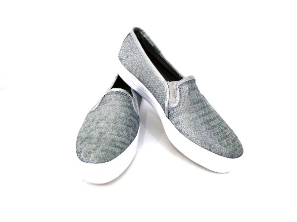 Tênis Slip On Triple Decker Glitter Prata - Keds