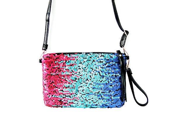 Bolsa CrossBody Paetê Multicolorido- Dali Shoes