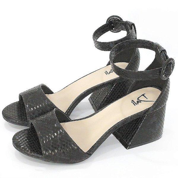 Sandalia Dalí Shoes Salto Grosso Animal Print