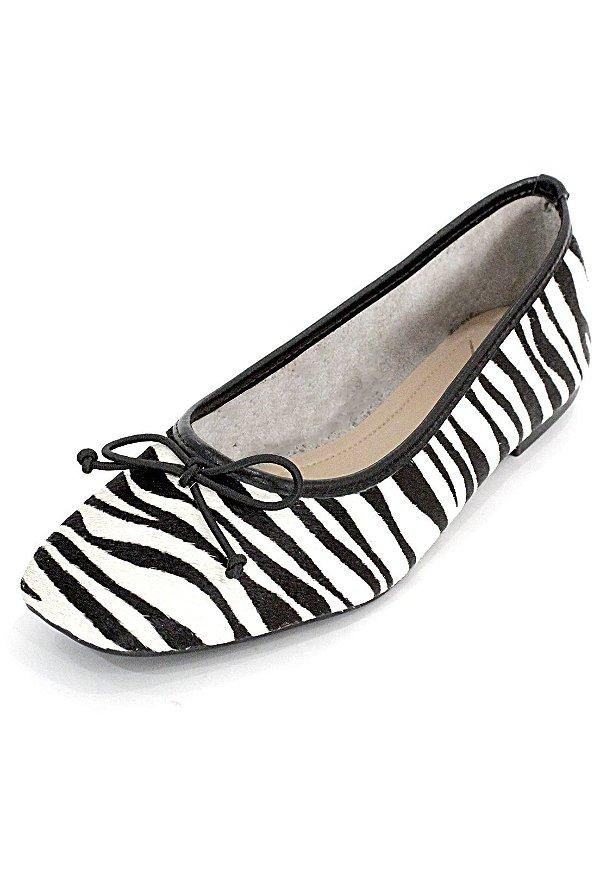 Sapatilha Couro Dali Shoes Animal Print Zebra