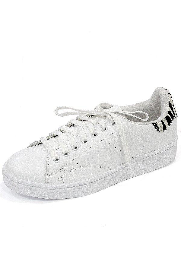 Tênis Couro Dali Shoes Paolla com cadarço