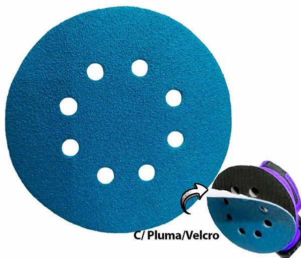 """Disco de Lixa Com Velcro 125mm 5"""" com Furo Grão 40"""