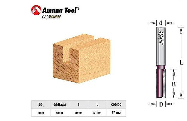 Fresa Amana Tool - Age Reta Paralela 3mm - FR102