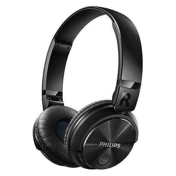 Fone de Ouvido Philips SHB3060BK com Haste Dobrável e Bluetooth