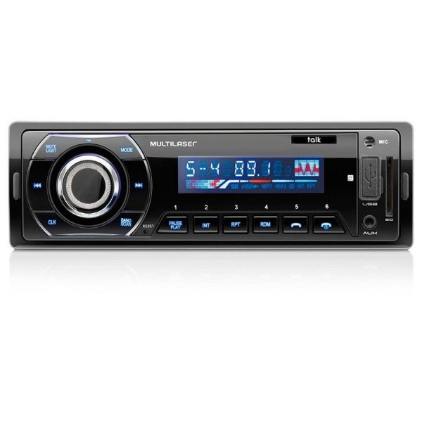 Rádio Automotivo Multilaser Talk Bluetooth, Rádio FM, USB, SD e MMC - P3214