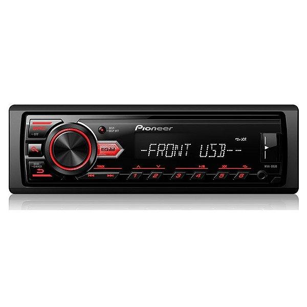 SEMINOVO - Media Receiver Pioneer MVH-088UB c/ USB e Auxiliar