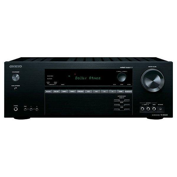 Receiver Onkyo TX-SR444 7.1 Canais / Dolby Atmos / 4K UltraHD / Bluetooth
