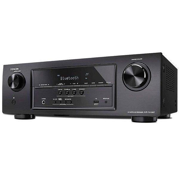 Receiver Denon AVR-S510BT - Multicanal 5.2, Tecnologia 4K, Ultra Full HD com Bluetooth