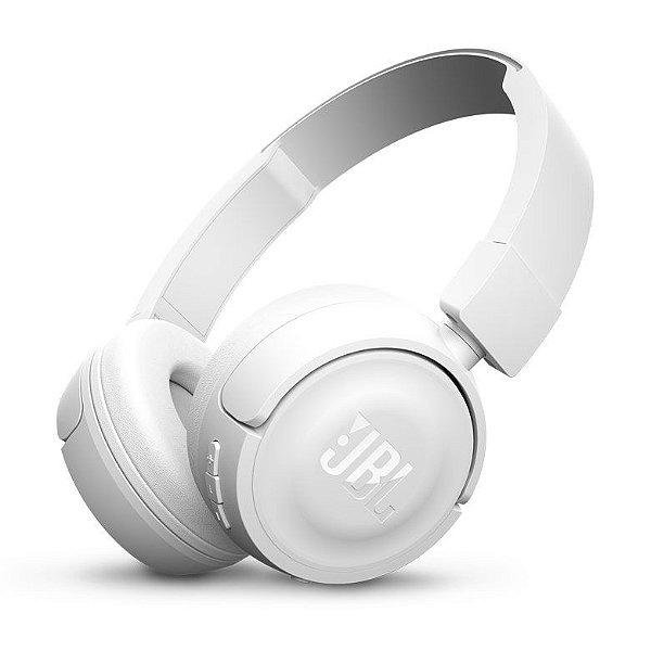 Fone de Ouvido JBL T450BT Pure Bass com Bluetooth - Branco