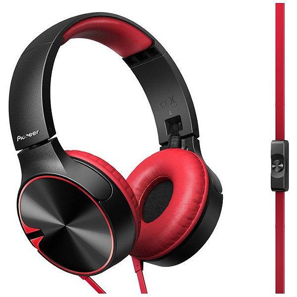 Fone de Ouvido Pioneer SE-MJ722T com Microfone - Vermelho