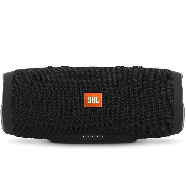 Caixa de som JBL Charge 3 com Bluetooth e Prova de Água - Preto