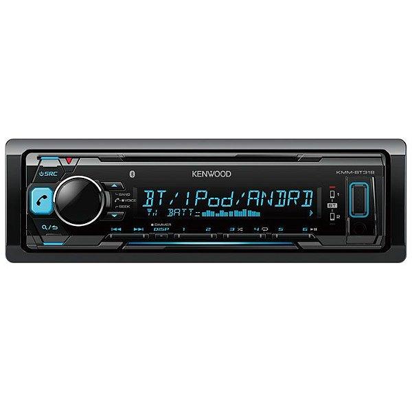 Media Receiver Kenwood KMM-BT318 com Bluetooth e USB