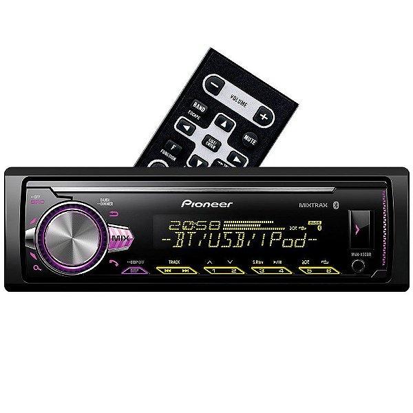 Media Receiver Pioneer MVH-X30BR com USB, AUX, Bluetooth e Mixtrax