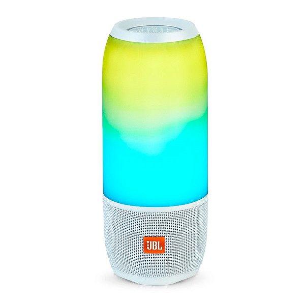 Caixa de Som JBL Pulse 3 Bluetooth e Light Show - Branca