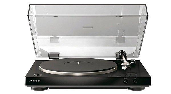 Vitrola Pioneer PL30K com Equalizador de áudio e Operação Automática