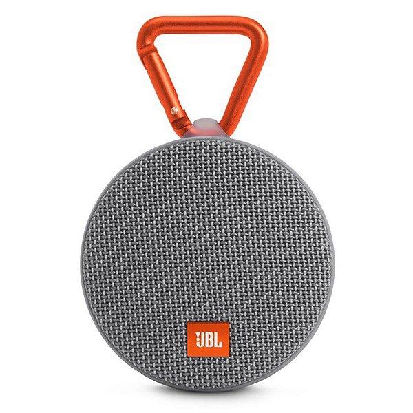 Caixa de Som JBL CLIP 2 Prova de Água e Bluetooth - Cinza