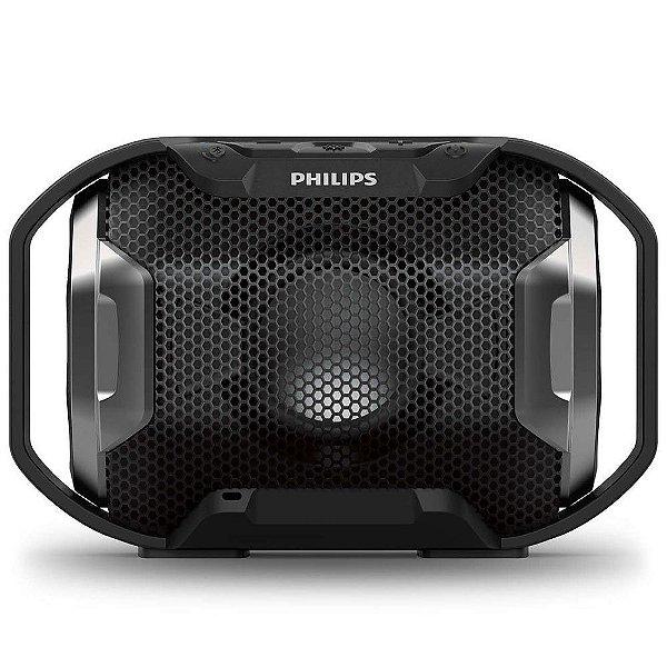 Caixa de Som Philips SB300B Prova de Água e Bluetooth - Preta