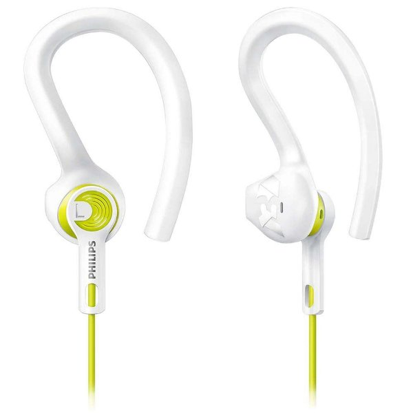 Fone de Ouvido Philips SHQ1400LF - Resistente à água - Branco/Amarelo