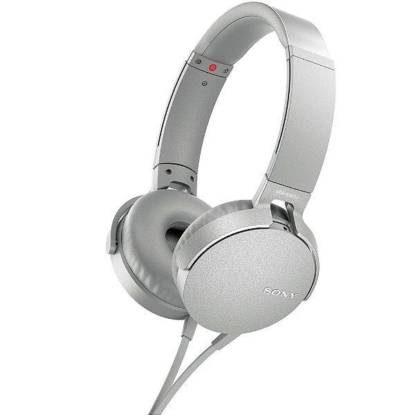 Fone de Ouvido Sony MDR-XB550AP Headphone com Microfone - Branco