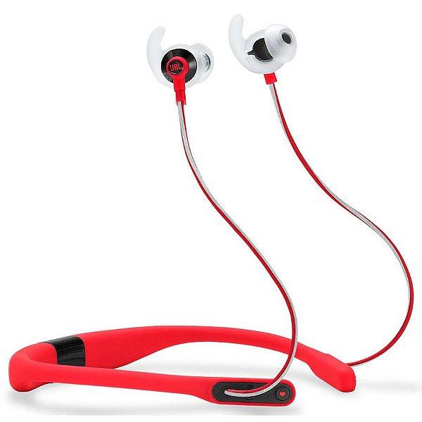 Fone de Ouvido JBL Reflect Fit Bluetooth com Monitoramento Cardíaco - Vermelho