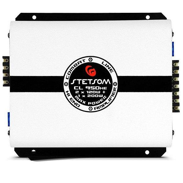Amplificador Stetsom CL950HE (2x 61W + 1x 92W RMS)