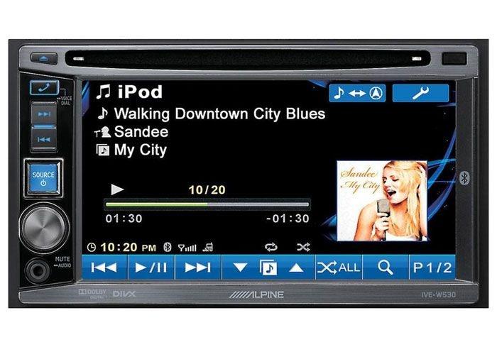 DVD Player Alpine IVE-W530 c/ entrada USB e Bluetooth