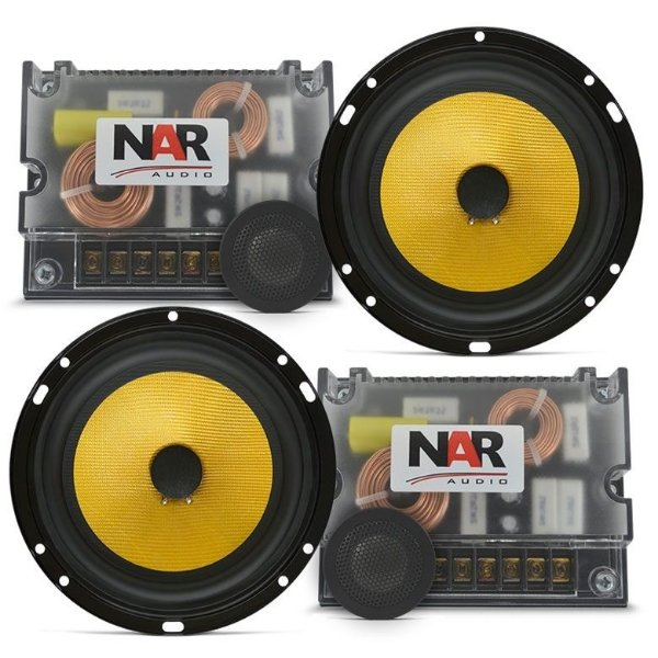 Kit 2 Vias NAR Audio 650-CS-3 (6 pols. / 120W RMS)