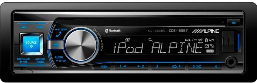OFERTA - CD/MP3 Player Alpine CDE-133BT c/ entrada USB e Bluetooth