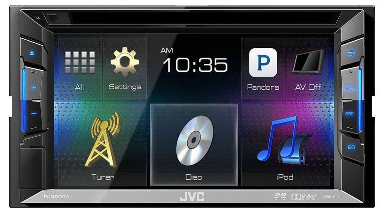DVD Player JVC KW-V11 c/ entrada USB e Aplicativos