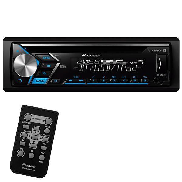 Reprodutor de CD Automotivo Pioneer DEH-S4050BT com Bluetooth/USB/Auxiliar - Preto