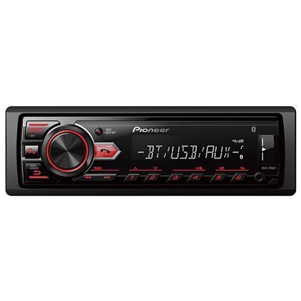 Toca Radio Pioneer MVH-295BT USB Bluetooth Mãos Livres - Preto