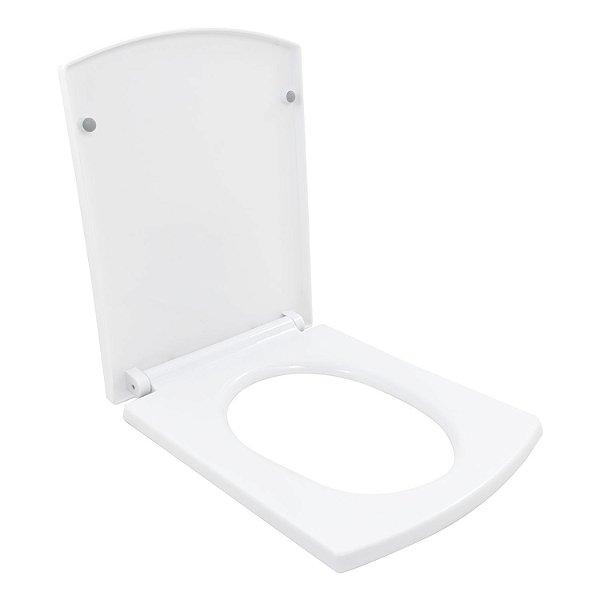 Assento Vaso Sanitário Bacia Prisma Branco Soft Close
