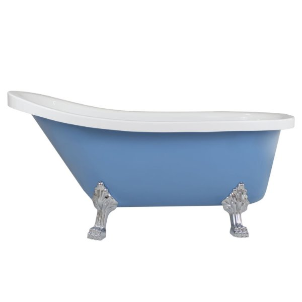 Banheira Imersão Bali Branca Azul 1500x750x700