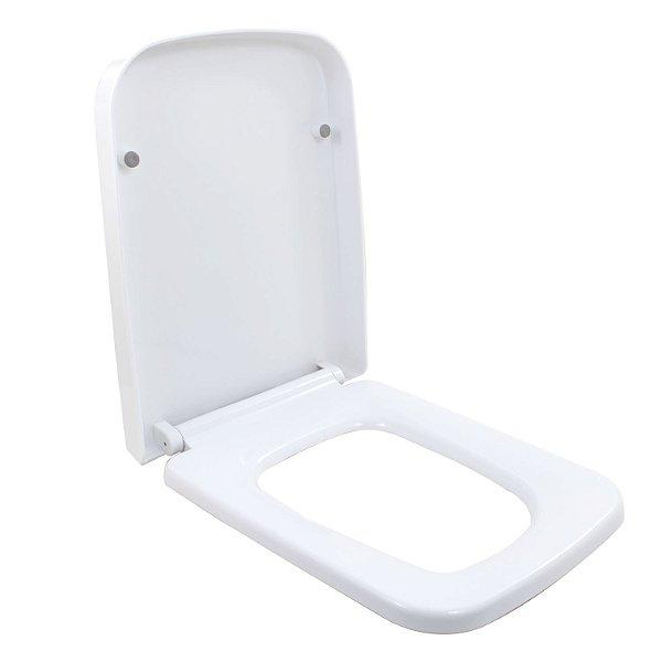 Assento Sanitário Bacia Lux Soft Close Branco