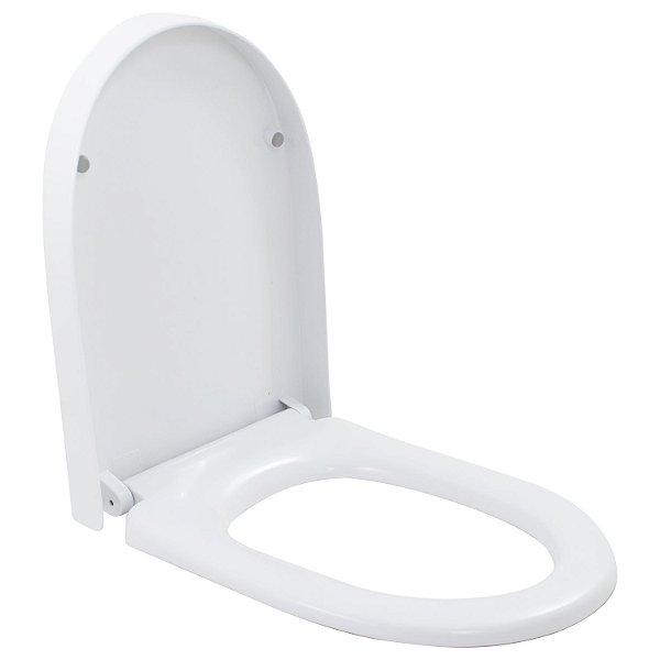Assento Vaso Sanitário Fluir Soft Close Branco Preto