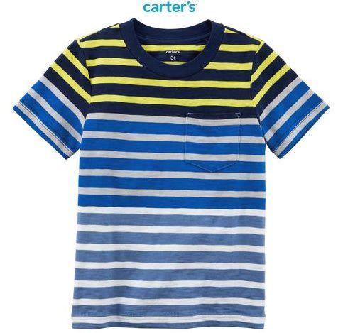Camisa Carter's Manga Curta com Bolso - Colorblock