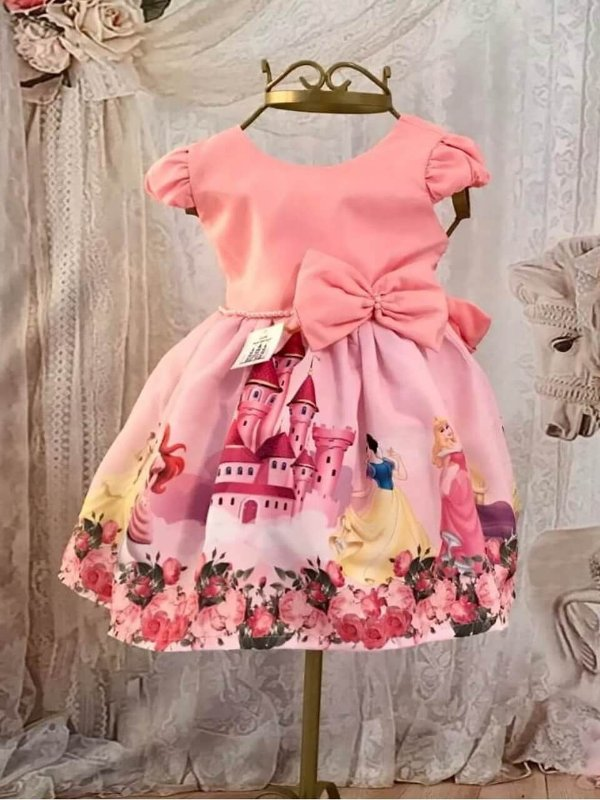 Vestido de Festa Infantil - Princesas - Super Luxo