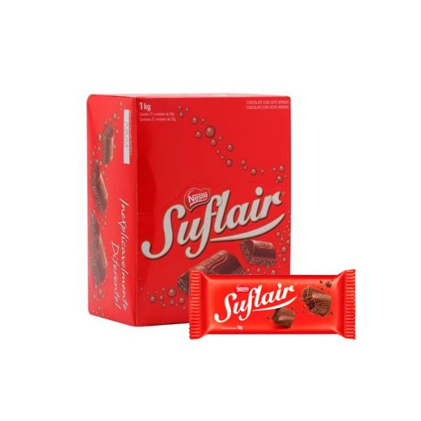 Chocolate Suflair com 20 unidades de 50g cada Nestle