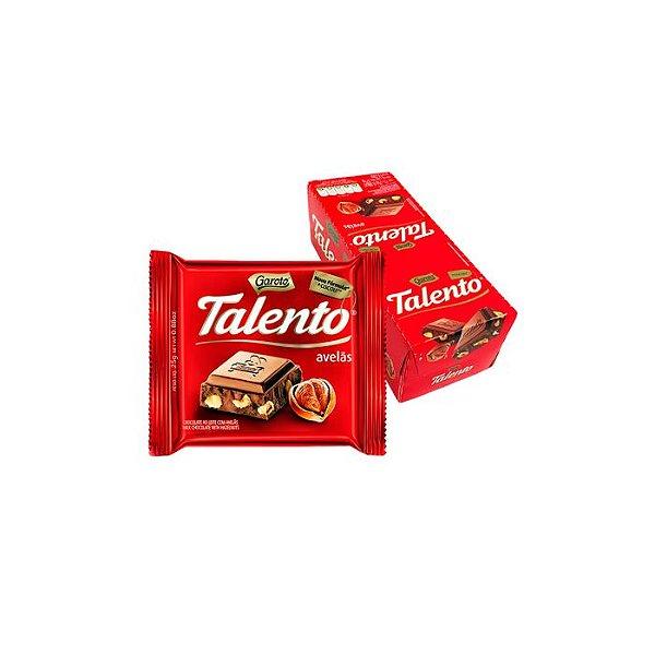 Chocolate Talento Avelãs com 15 unidades de 25g cada Garoto