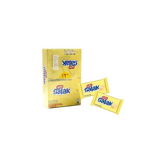 Chocolate Branco Galak com 18 unidades de 20g cada Nestle