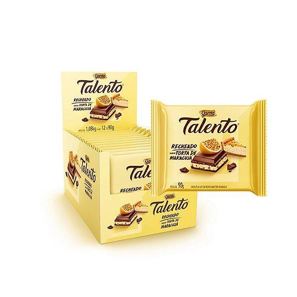 Talento recheado sabor Torta de Maracujá com 12 unidades de 90g cada