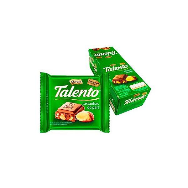 Chocolate Talento Castanhas-do-Pará com 15 unidades de 25g cada Garoto