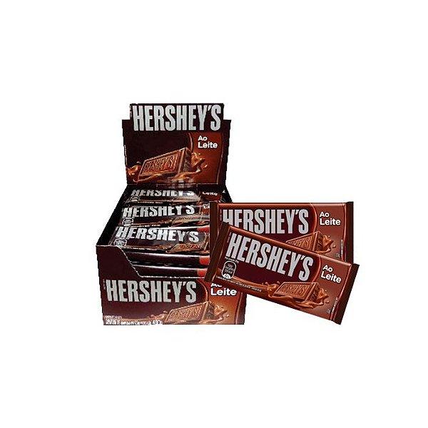 Tablete Hershey's ao leite com 18 unidades de 20G cada