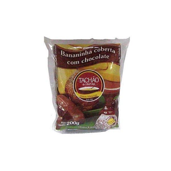 Bananinha Coberta com Chocolate Meio Amargo Tachão 200g
